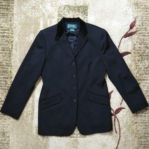 LAUREN Ralph Lauren Velvet Collar Wool Blazer